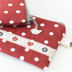 Red Polka Dot Coin Purse