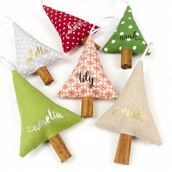 Personalised Christmas Decorations Customised Rustic Christmas Decor