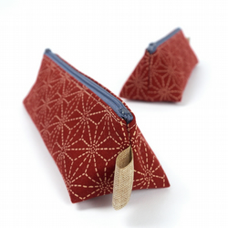 Small Pencil Case in Japanese Style Fabric