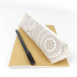 Vintage Doilies Linen Pencil Case - Gift for Her