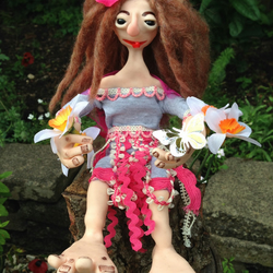 Ooak Troll Doll,Handmade Fantasy Doll,Polymer Clay,Art Doll,Collectable,Fae,Girl