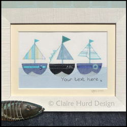 Handmade Personalised Boating Artwork