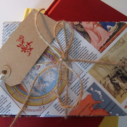 4 Handmade Encyclopedia Envelopes
