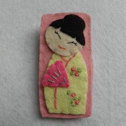 Japanese Geisha Girl Badge