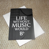 Life Without Music Would B Flat Card