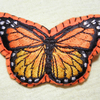 Large Felt Butterfly Hair Clip - Orange & Yellow