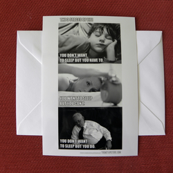 The 3 Stages of Life Blank Greeting Card