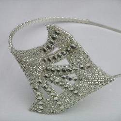1920s flapper style diamante headband for wedding, prom or party