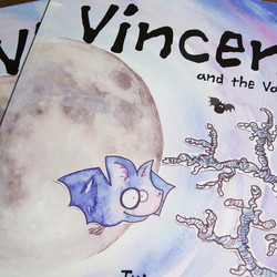 Children's Picture Book Spooky Vampire Story, VINCENT AND THE VAMPIRES, fiction,