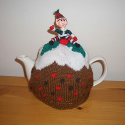 Scented Christmas Pudding Tea cosy