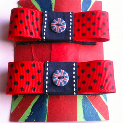 Union jack hairclips