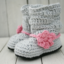 Newborn Slouch Boots, Baby Girl Boots - MADE to ORDER