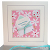Birthday Card - Personalised, little note design (pink, aqua)