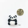 Miniature baby panda, needle felted mascot by Lily Lily Handmade