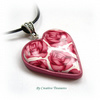 Polymer Clay Millefiori Heart Pendant
