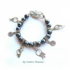 50 Shades Pearl and Charm Bracelet