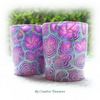 Pair of Polymer Clay Votive Candle Holders