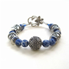 Blue Sodalite and Silver Bracelet
