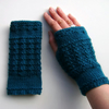 Ladies Fingerless Gloves Wrist Warmers Teal, Grey, Green, Pink, Denim & Grape
