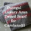 Custom Item for Carolann51 - Donegal Luxury Aran Tweed Wool Scarf