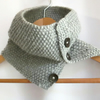 Cowl in Grey Aran Wool