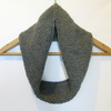 Cowl Infinity Scarf in Grey Alpaca Wool