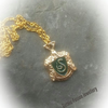 RESERVED FOR AMANDA ... Moon Necklace .. Slytherin Necklace and Earrings