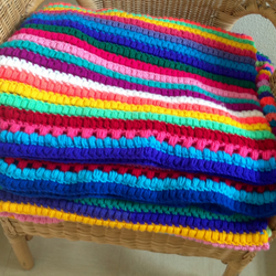 Pattern PDF Multi coloured Afghan Throw