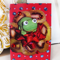 Festive Froggy Christmas Card
