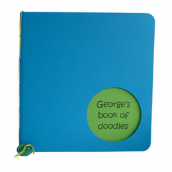Personalised notebook jotter green and blue - Walvis
