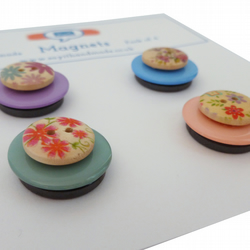 Button magnets in pastel colours - Skiddaw