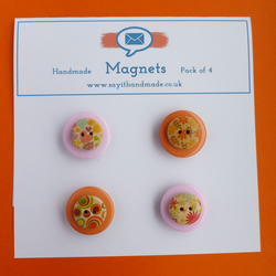 Button magnets orange and pink - Skiddaw