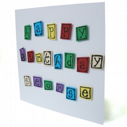 Personalised birthday card with name - Aba