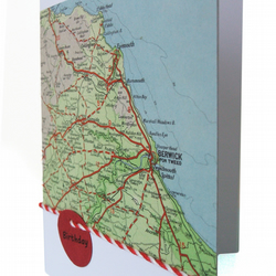 Personalised map birthday card - Kos