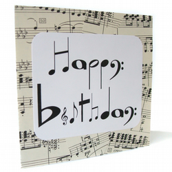 SALE Musical notes birthday card - chlef