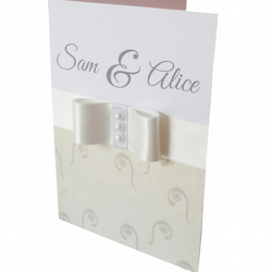Glamorous personalised wedding card - St Lucia