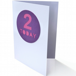 Birthday card with age - Kep