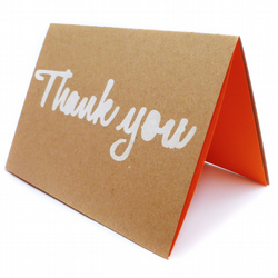 Pack of 4 script font thank you cards - Halifax