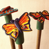 Handmade Butterfly Garden Cane Toppers (set of three)
