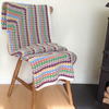 BLANKET, THROW, cot bedding. Crocheted .' Hetty's Garden' ...ready to ship ...