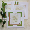 GREETINGS cards, notecards , ( pack of 3) ' English Fern'.
