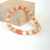 Handmade and unique bracelet, with orange agate