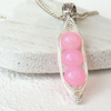 Pink jade 'Peas in a Pod' necklace - other colours and sizes available