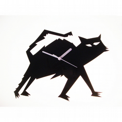 Violet the Cat acrylic wall clock