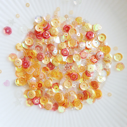 Just Peachy Sparkly Shaker Selection - Seed Beads, Sequins and Confetti