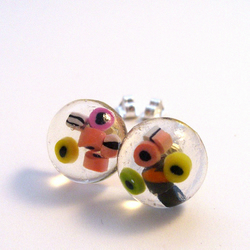 Liquorice Allsorts resin stud earrings FOR CHILDREN IN NEED