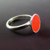 Vibrant Red and Sterling Silver cup ring FOR COMIC RELIEF