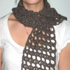 Chocolate Brown Crochet Scarf FOR COMIC RELIEF