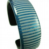 Stripy Dichroic Glass Bangle FOR COMIC RELIEF
