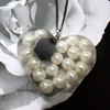 Resin pearl heart necklace FOR COMIC RELIEF